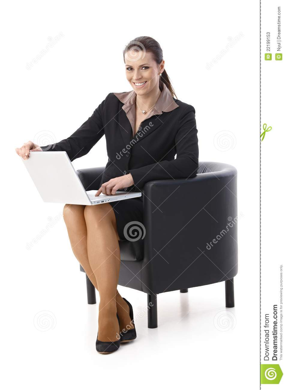 Laughing Businesswoman With Laptop Stock Photos - Image ...
