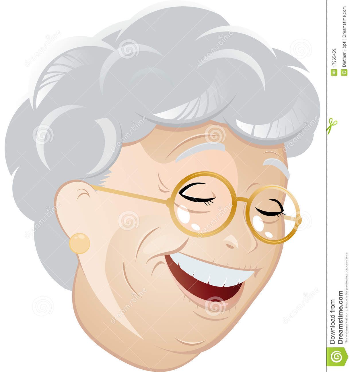 Laughing cartoon grandma stock vector. Illustration of ...
