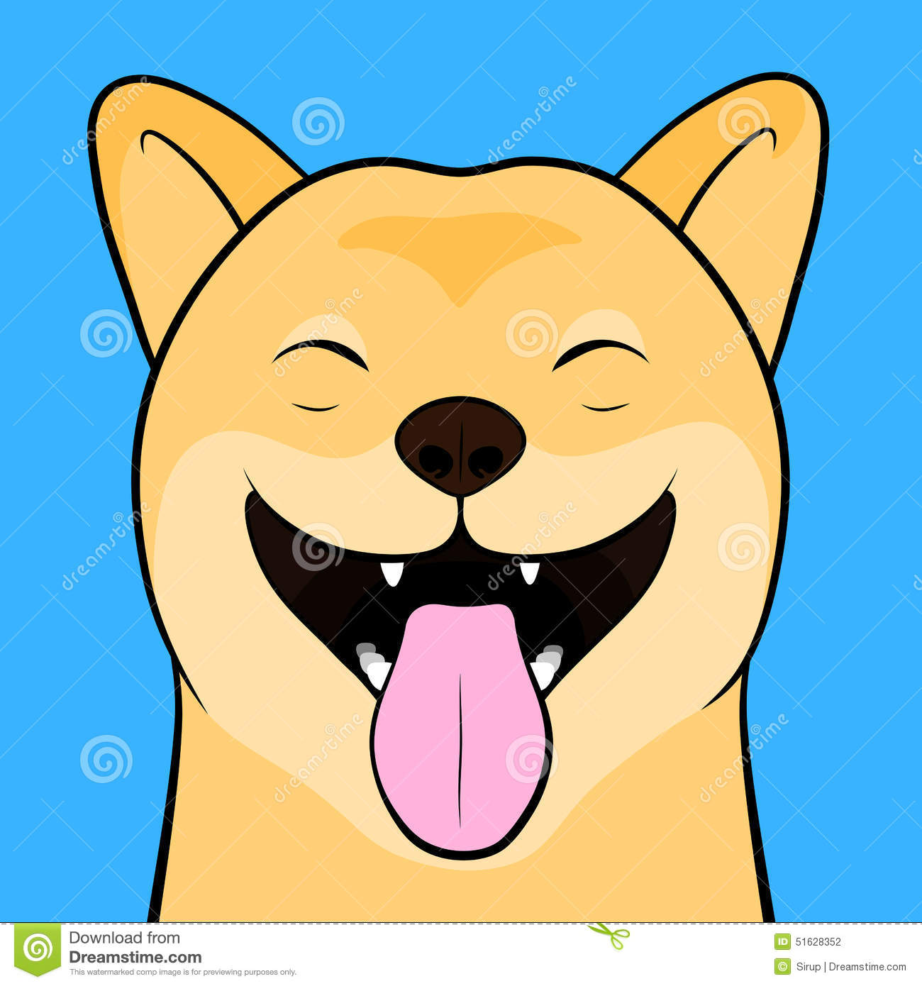 Laughing Cartooned Face Of A Shiba Inu Dog Stock Vector ... - photo#17