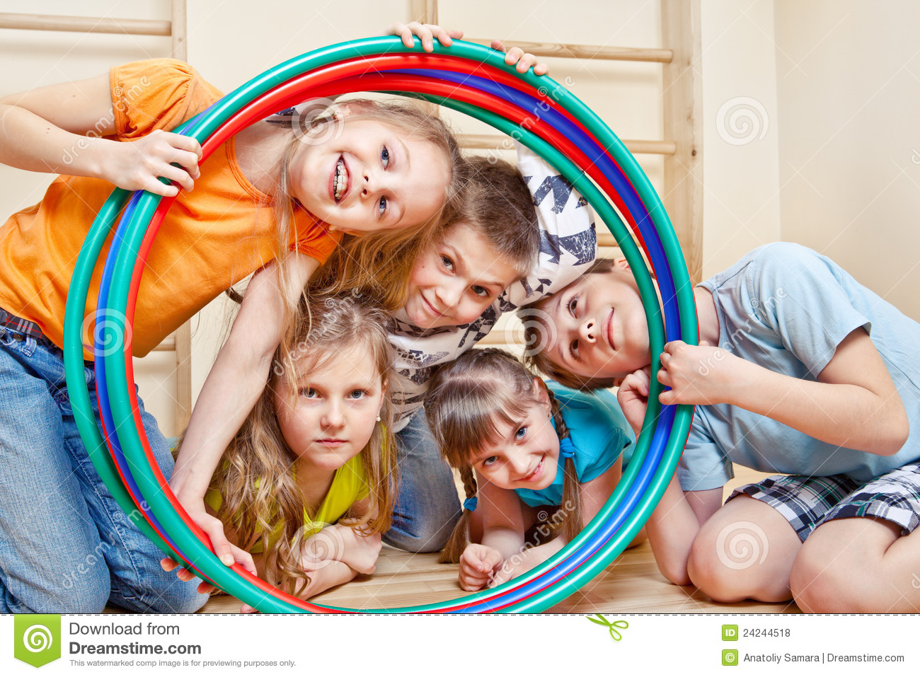 Laughing children stock photo. Image of active, happy ...