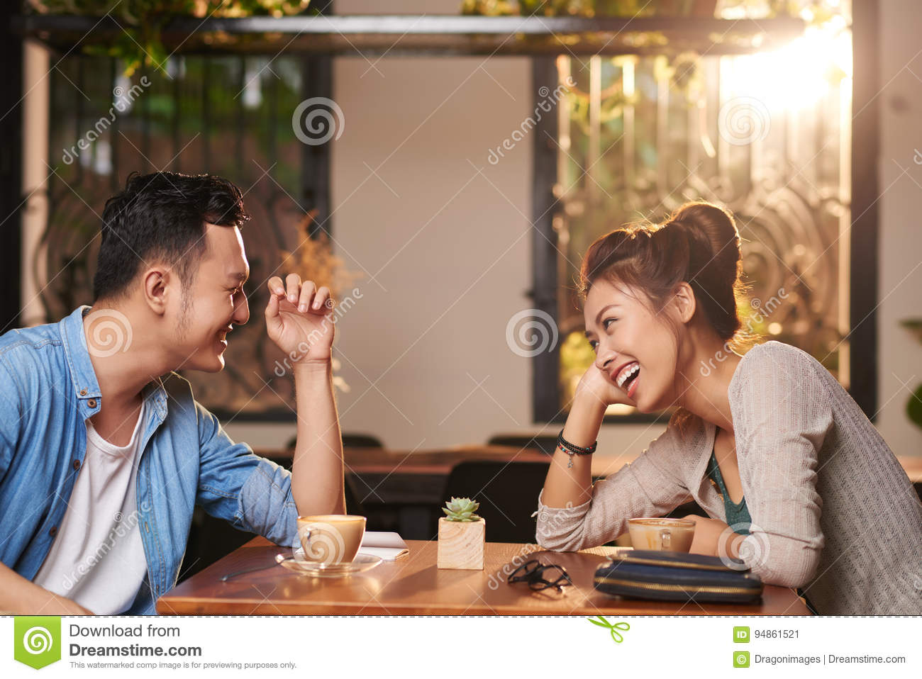 Royalty-Free Stock Photo. Download Laughing Couple On Date ...