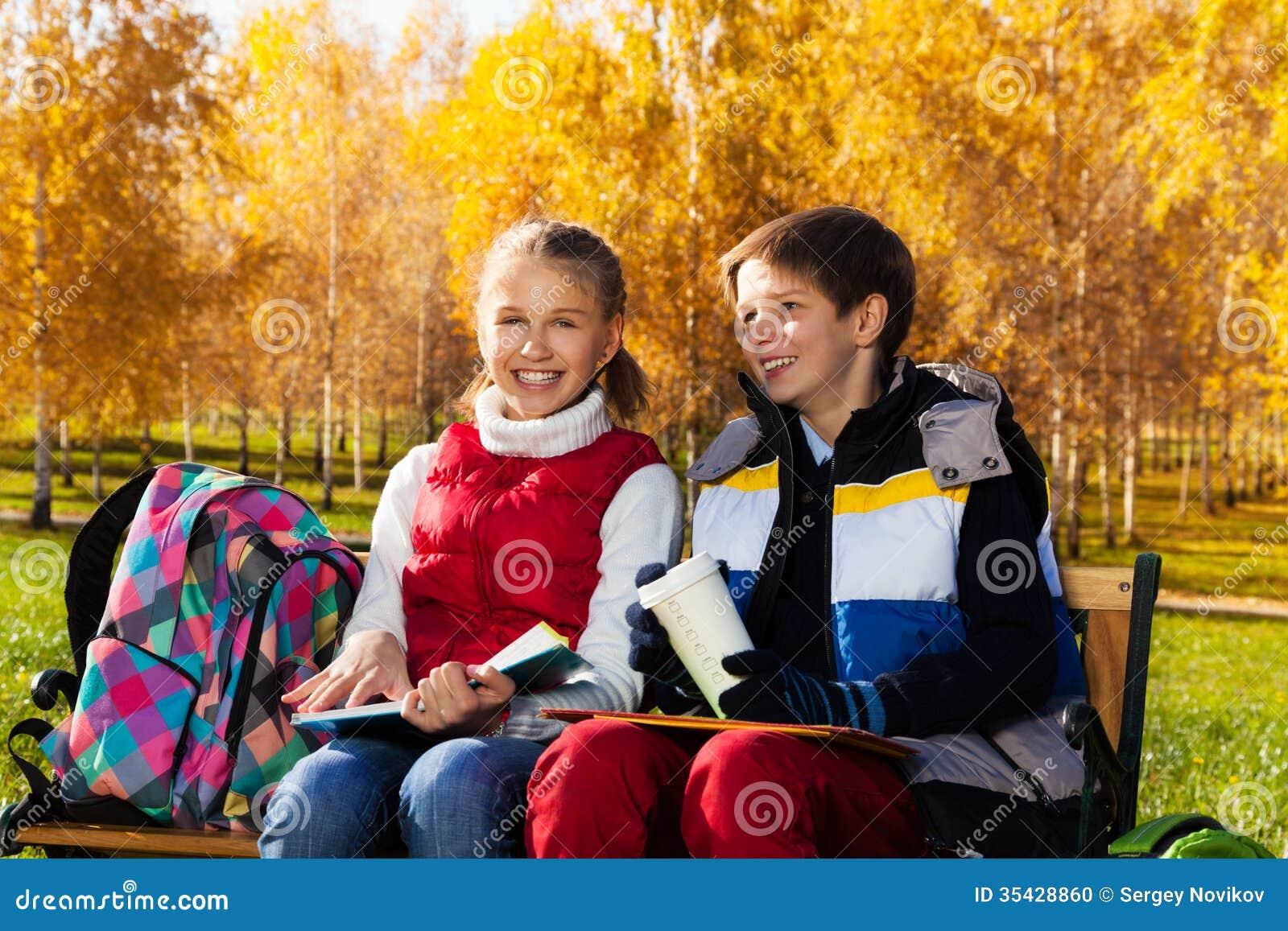 Laughing Couple School Kids Stock Photo - Image: 35428860