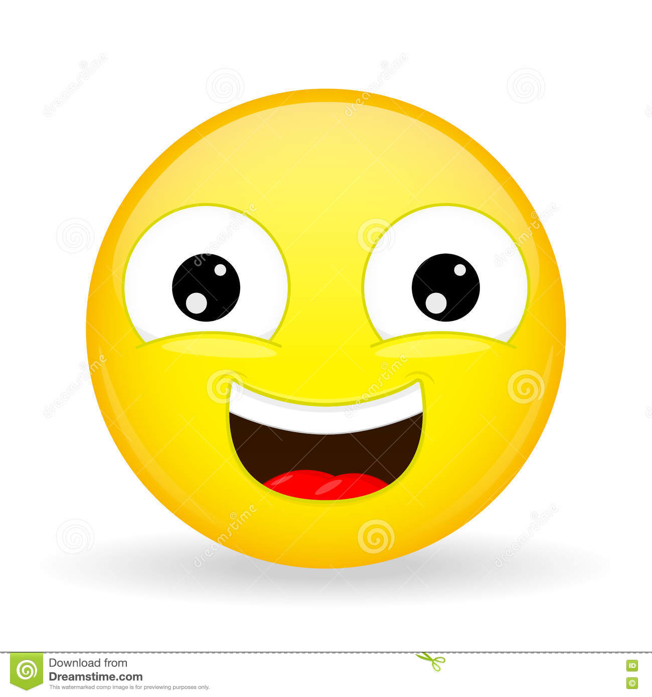 Laughing Emoji Emotion Of Happiness Sweet Smile Emoticon Stock Image