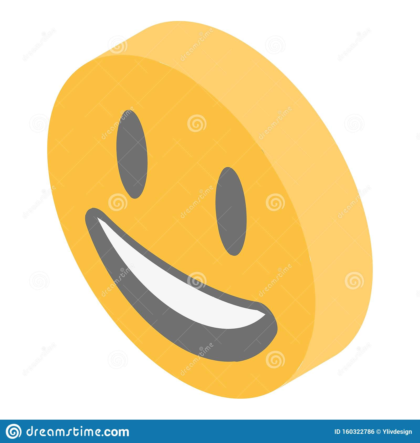 Laughing Emoji Icon, Isometric Style Stock Vector ...