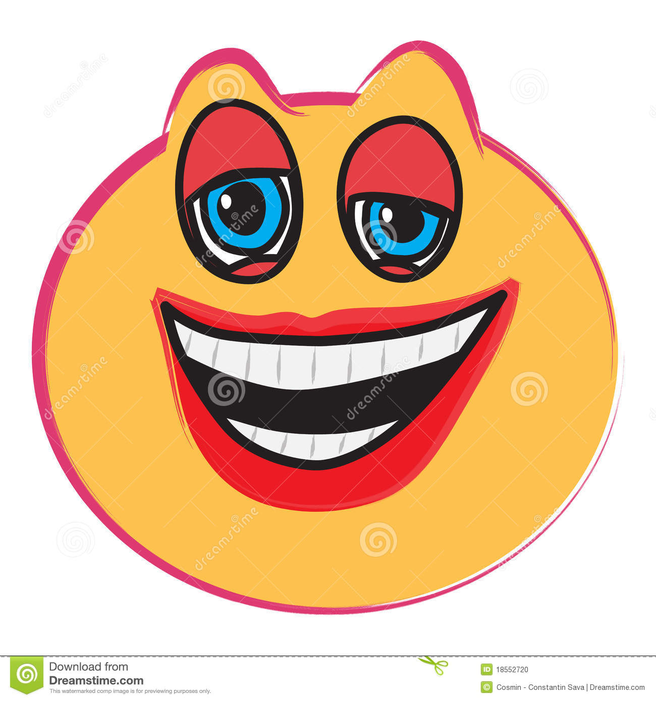 Laughing Face Stock Photo - Image: 18552720 Baby Girl Crying Animation
