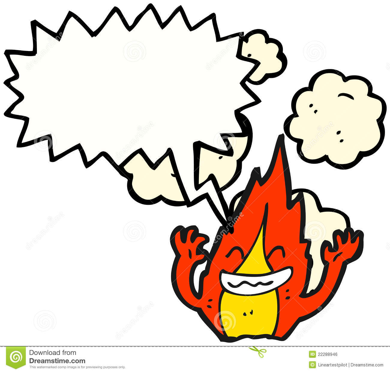 Cartoon Characters Laughing : Laughing fire cartoon character royalty free stock image