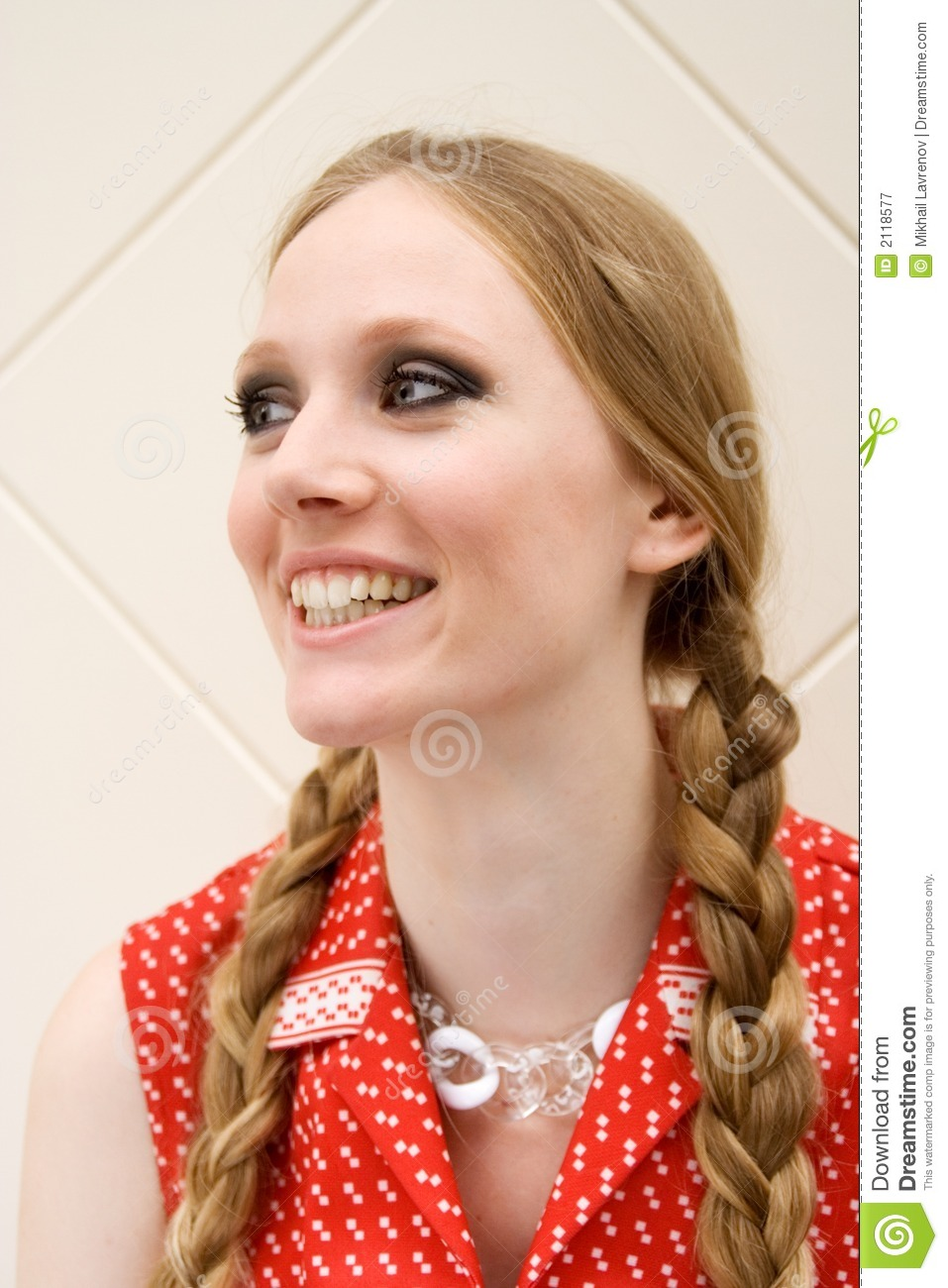 Laughing Girl With Plaits Royalty Free Stock Photography ...