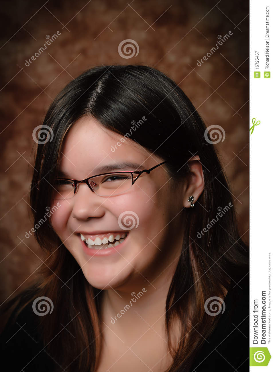 Laughing Girl Portrait