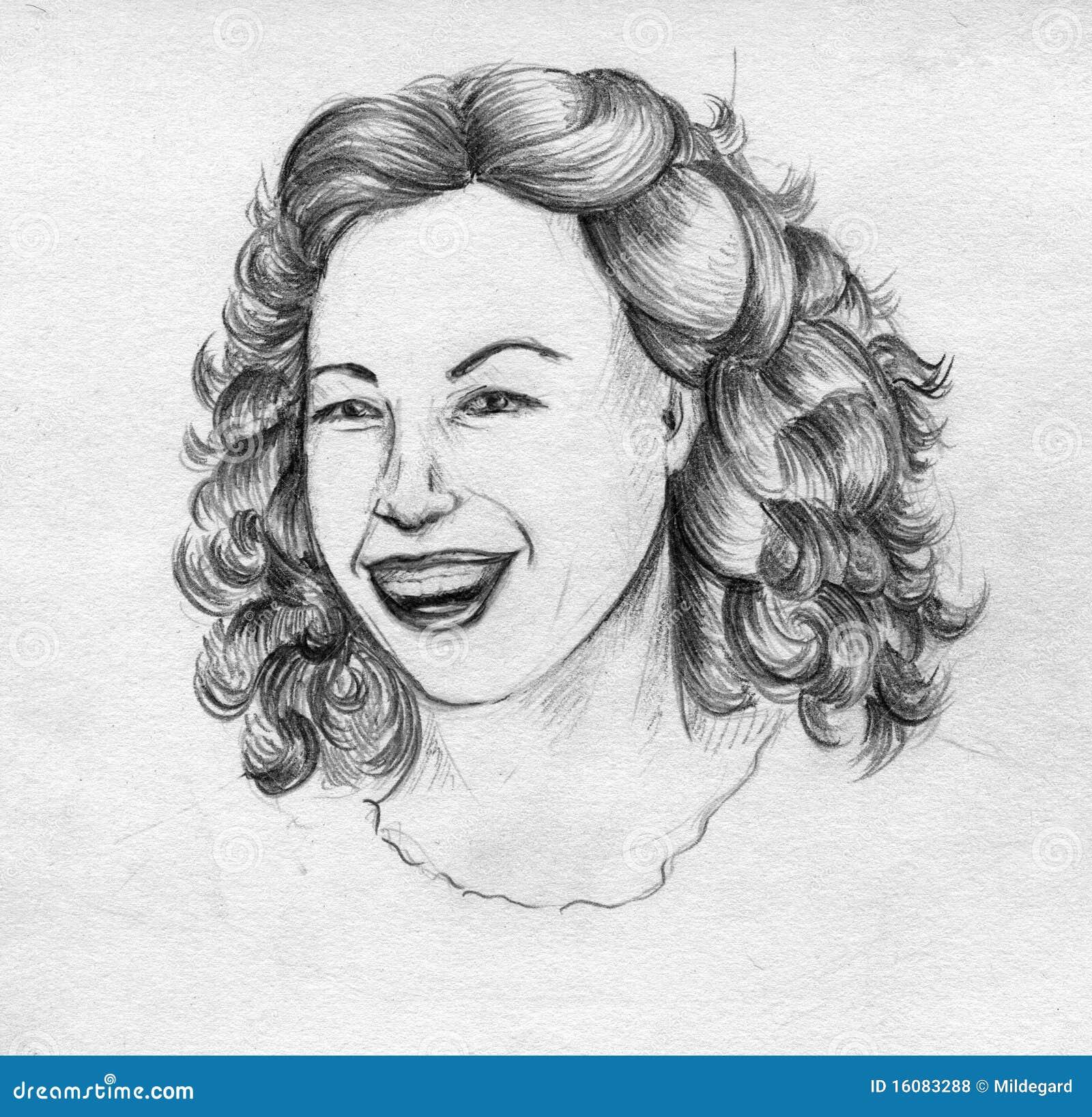 Laughing girl s face stock illustration. Illustration of ...