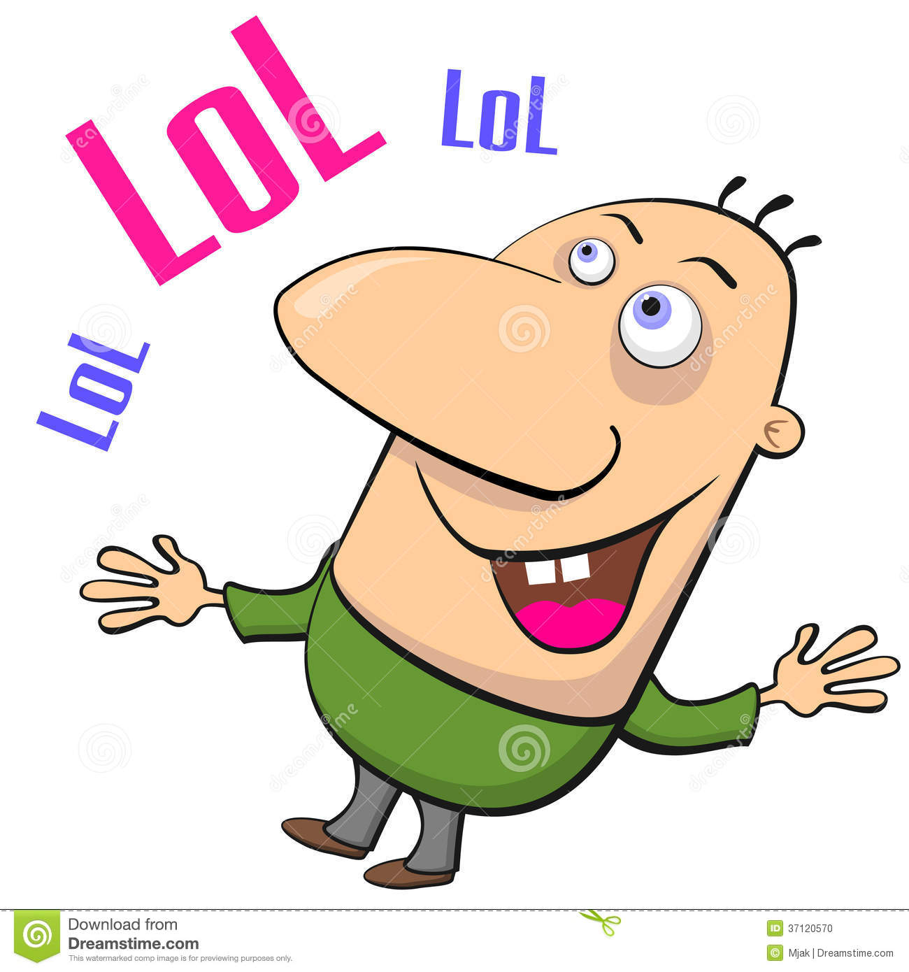 Cartoon Characters With Big Noses : Laughing man stock photo image