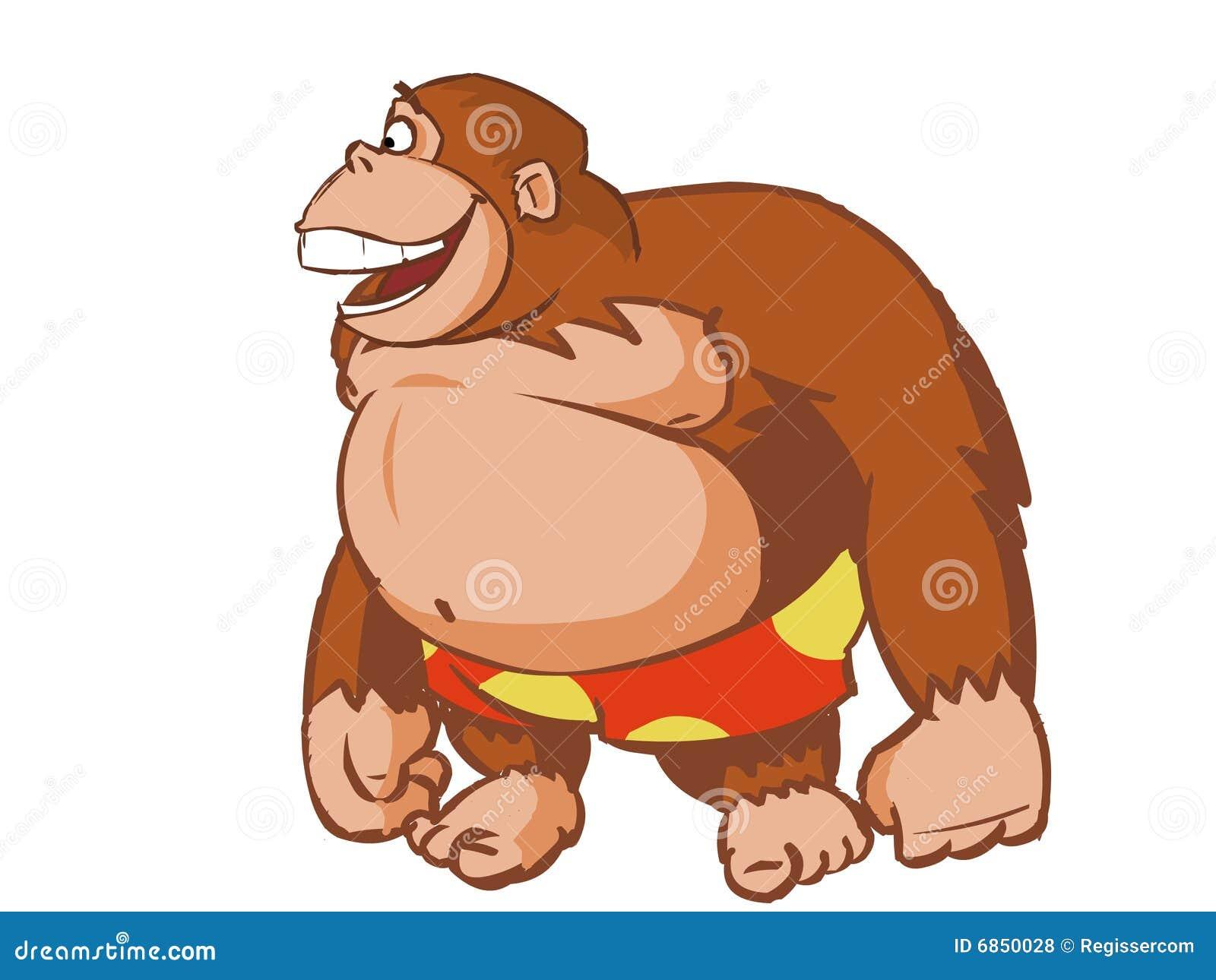 Orangutan Cartoon Laughing Orangutan