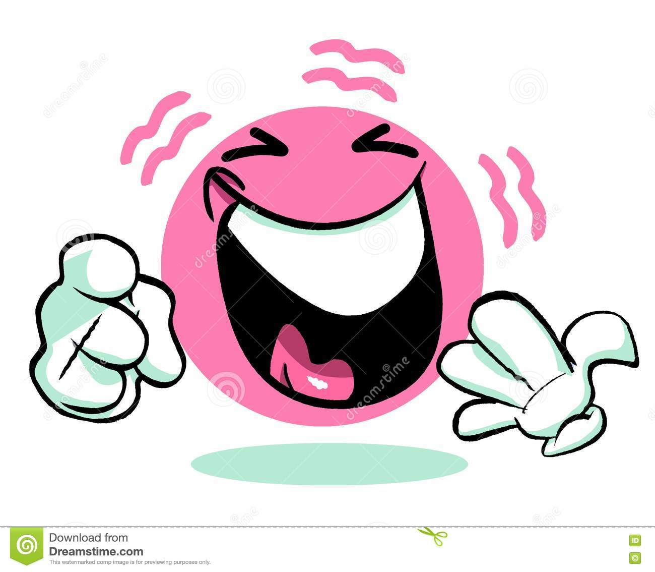laughing pink cartoon emoticon emoji stock photo image of joyful rh dreamstime com Person Laughing Clip Art Eyes Looking Clip Art