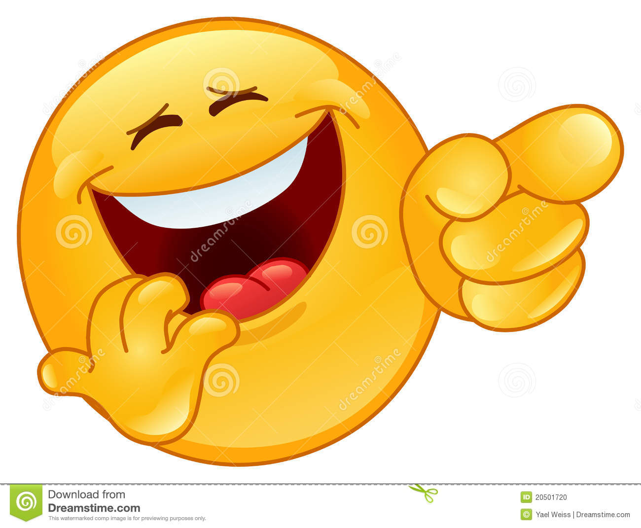 laughing and pointing emoticon stock vector illustration of humor