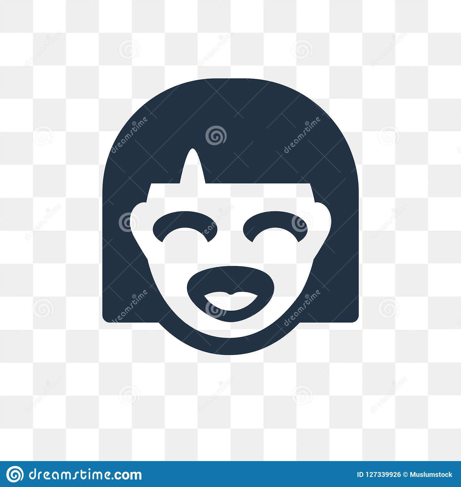 Laughing vector icon isolated on transparent background, Laughing transparency concept can be used web and mobile