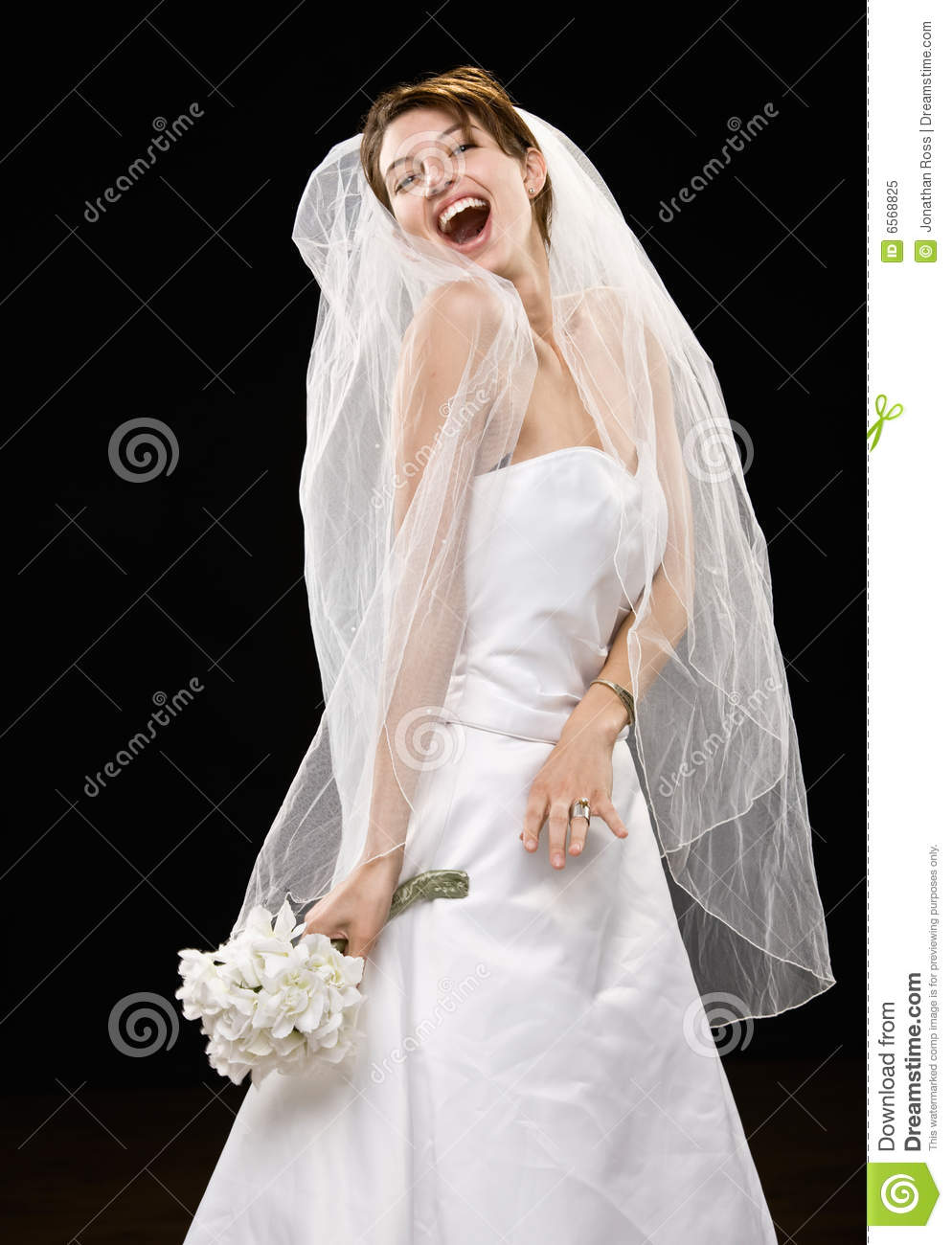 Young adult bride in veil royalty free stock photography for Wedding dresses for young brides