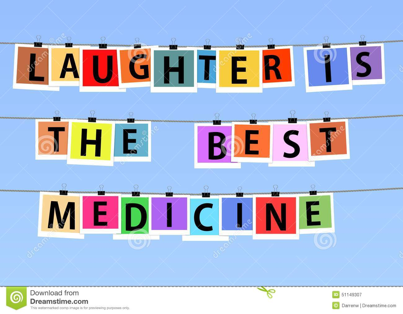 Laughter Is The Best Medicine Stock Illustration ...