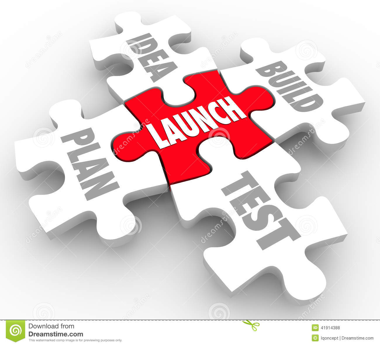 Launch Puzzle Pieces Idea Build Plan Test Starting New Business ...