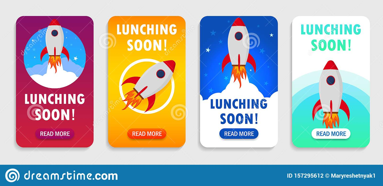 Launch Rocket With Launching Soon Interface For Mobile App Smart Phones Startup Rocket Banner With Launching Soon Shuttle In Stock Illustration Illustration Of Cartoon Design 157295612