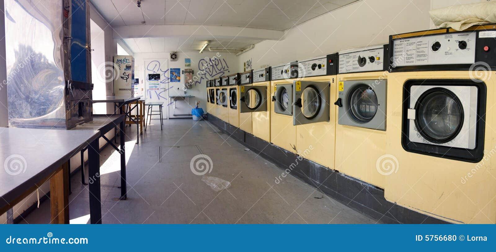 Launderette washing machine