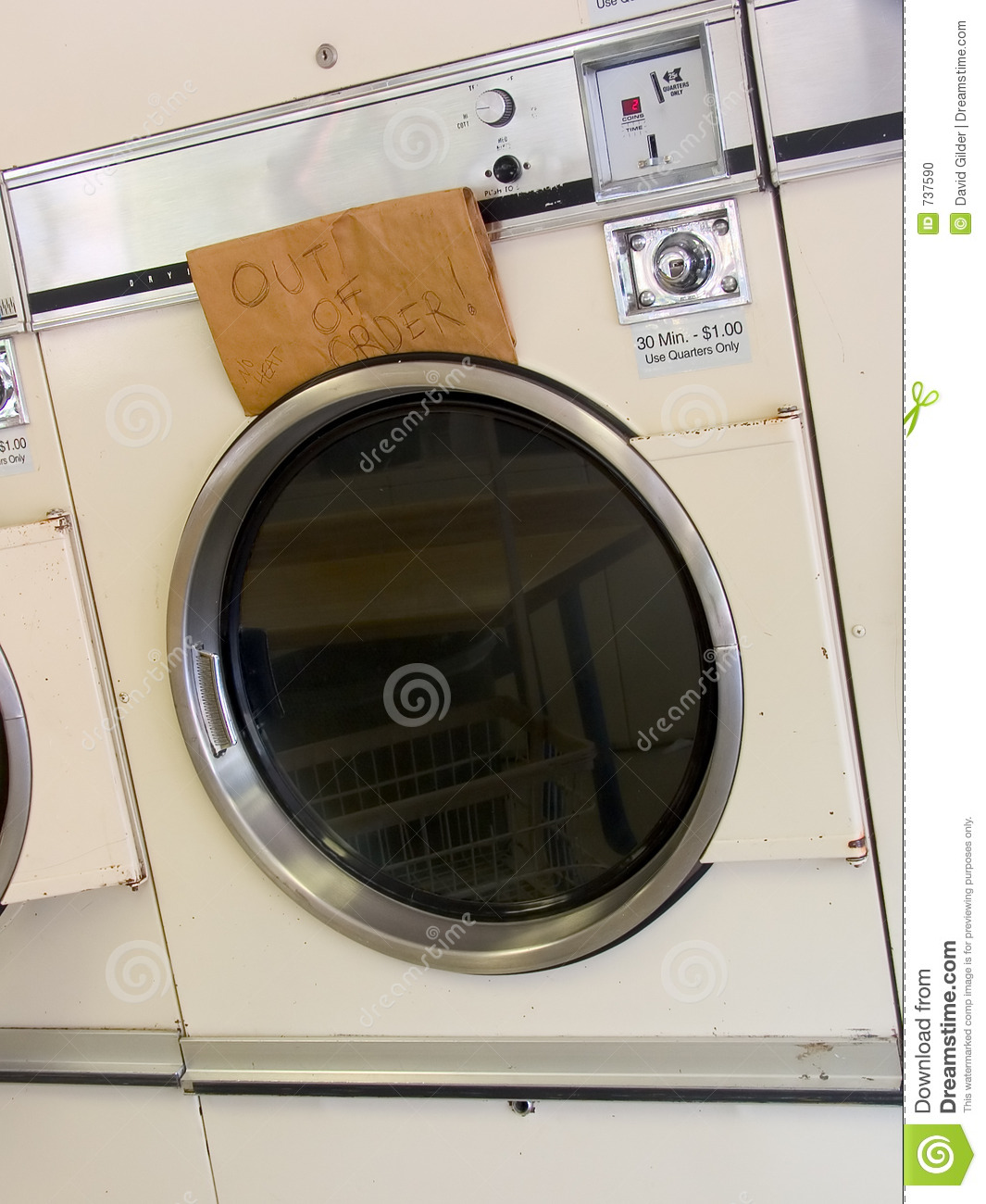 Laundromat dryer out of order