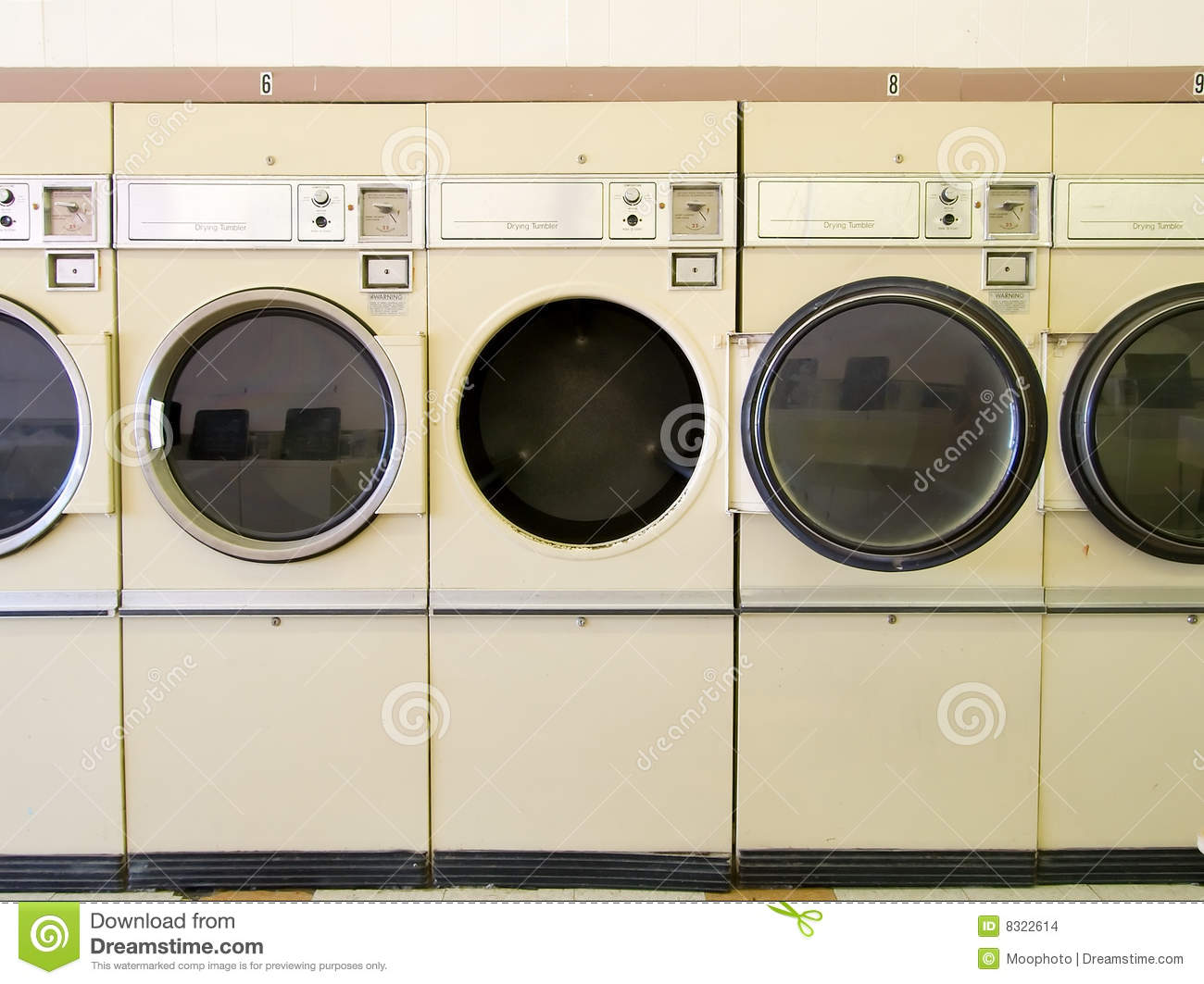 Laundromat Dryers Stock Photo Image Of Times Operated
