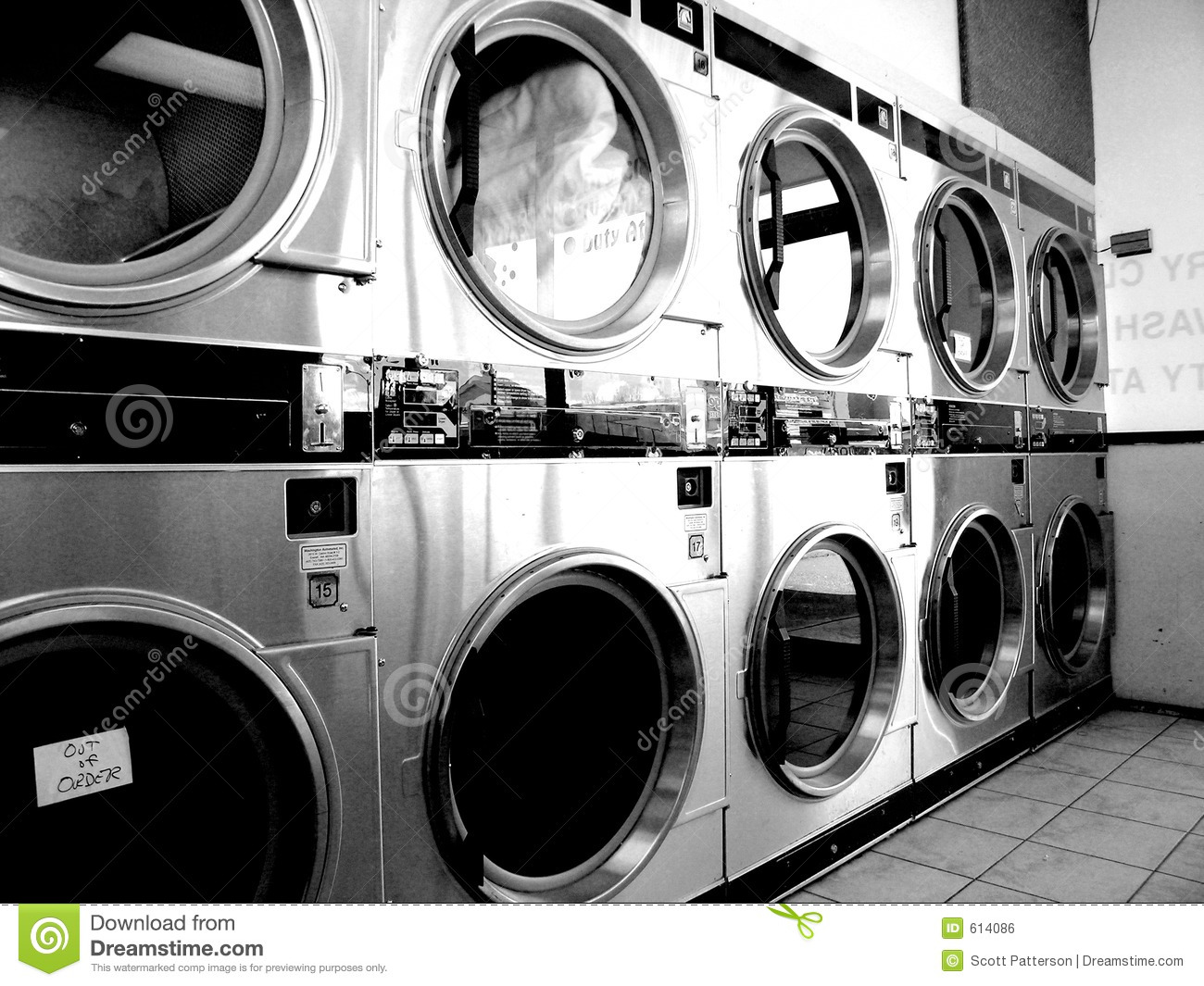 Laundromat Vintage Stock Photo Image Of Cloth