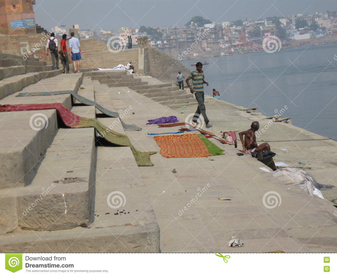 Laundry Assi Ghat Varanasi India