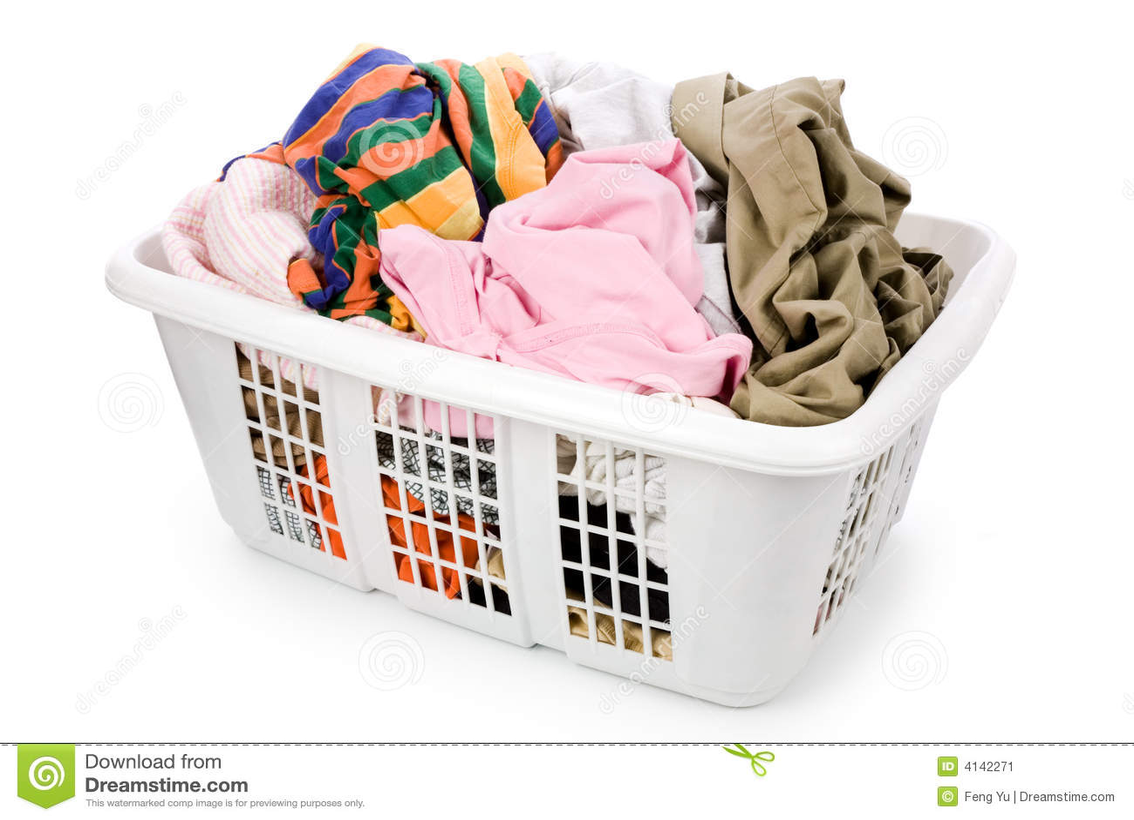 Laundry Basket And Dirty Clothing Stock Image - Image: 4142271