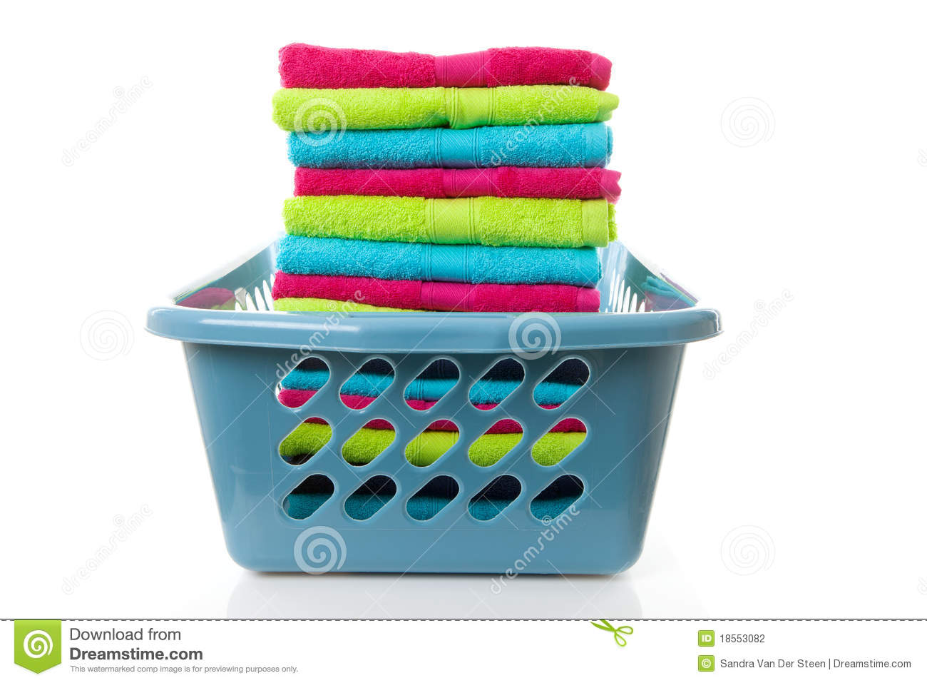 laundry basket filled with colorful folded towels stock Laundry Basket Line Art Laundry Hanger Vector