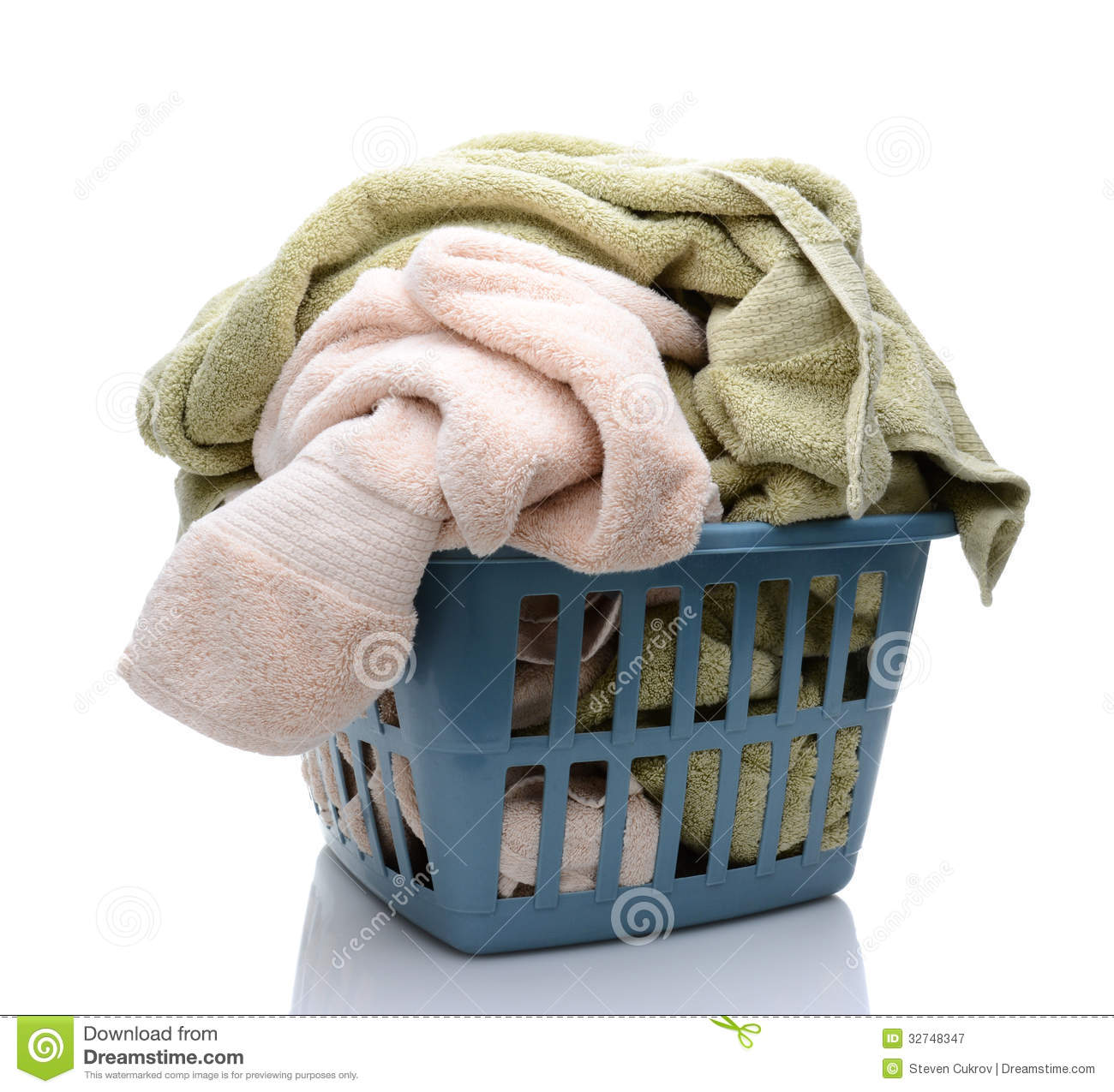 Laundry Basket Full Of Towels Royalty Free Stock Photography - Image ...