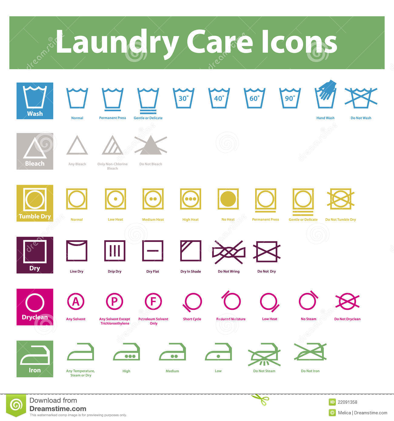 Laundry care icons stock vector illustration of care 22091358 laundry care icons biocorpaavc Choice Image