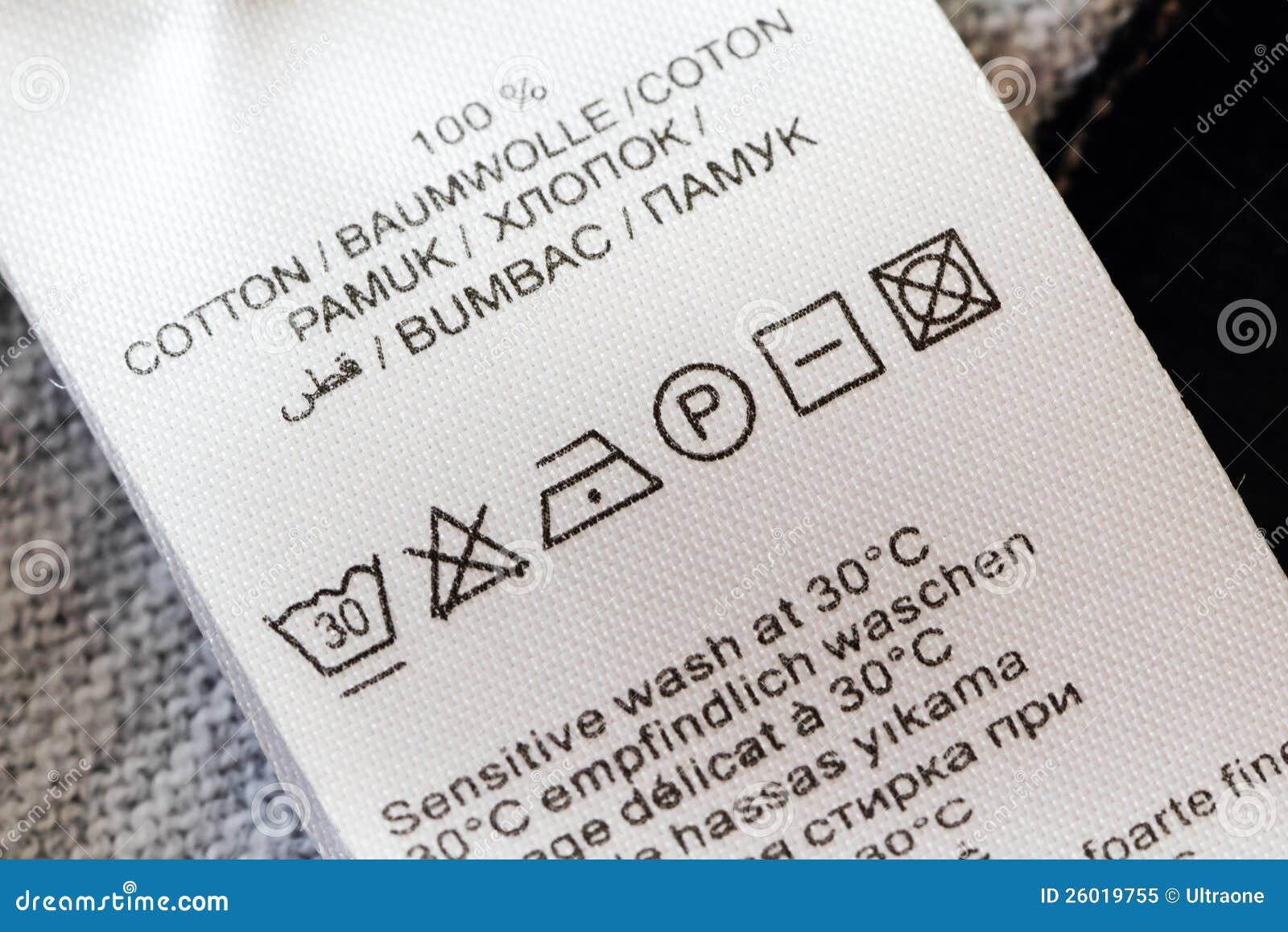 Laundry Care Label Royalty Free Stock Photo - Image: 26019755