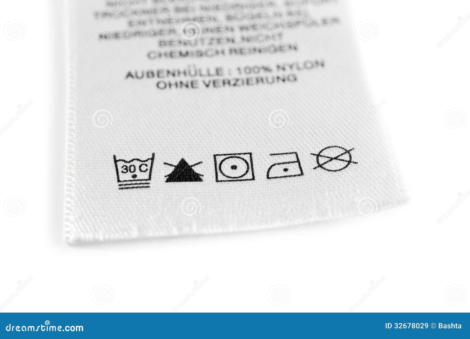 Laundry Care Symbols Stock Image Image Of Advice White 32678029