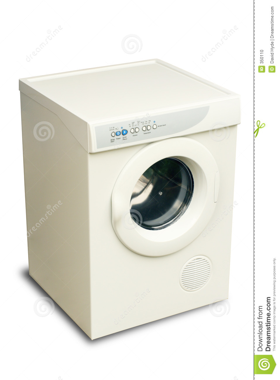 Animated Tumble Dryer ~ Laundry dryer stock photo image
