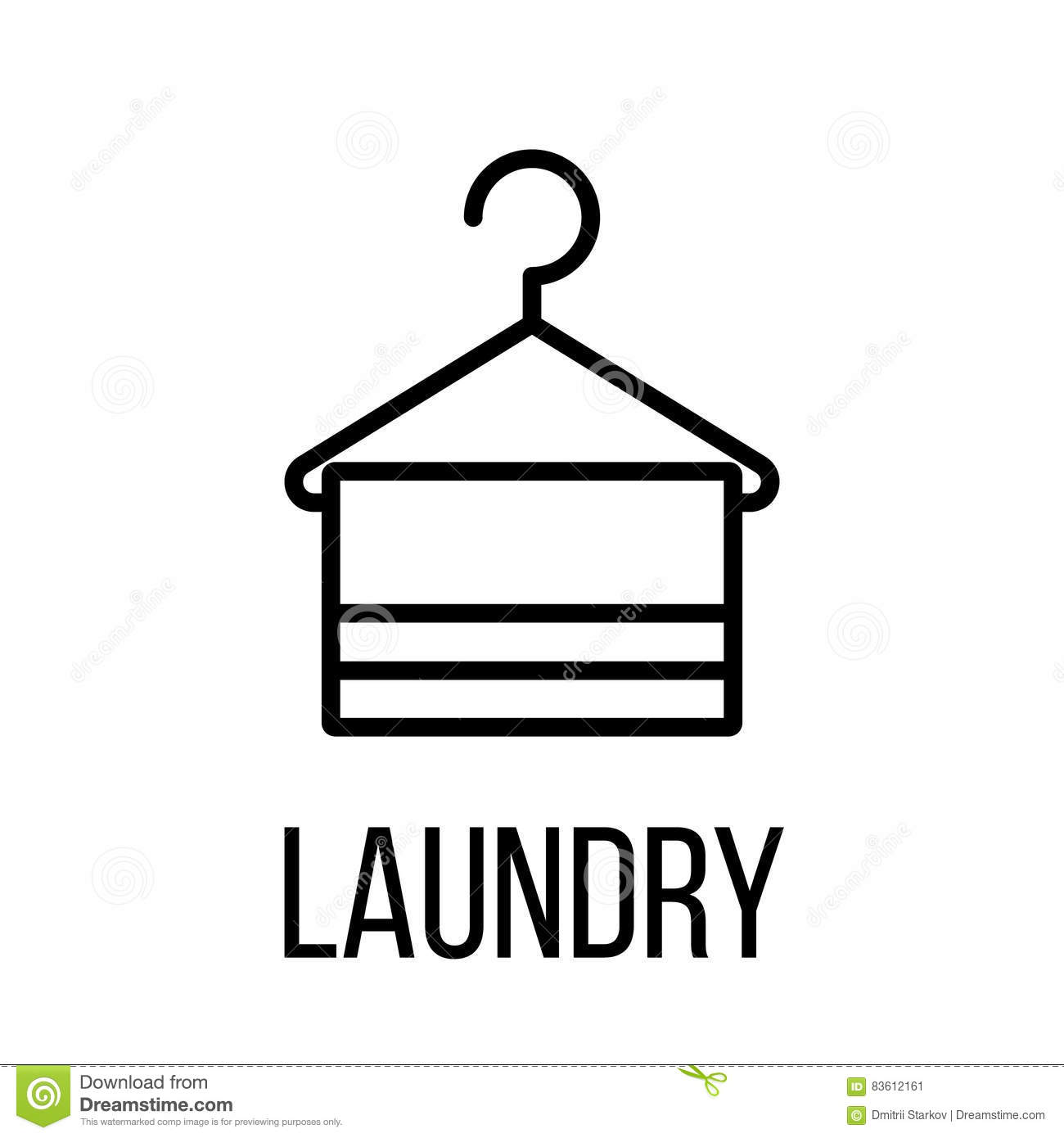 Pictogram outline laundry icon or logo in modern line for Houzz icon vector
