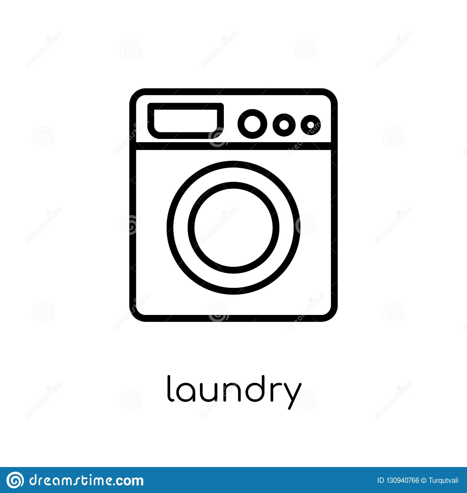 Laundry icon. Trendy modern flat linear vector Laundry icon on w