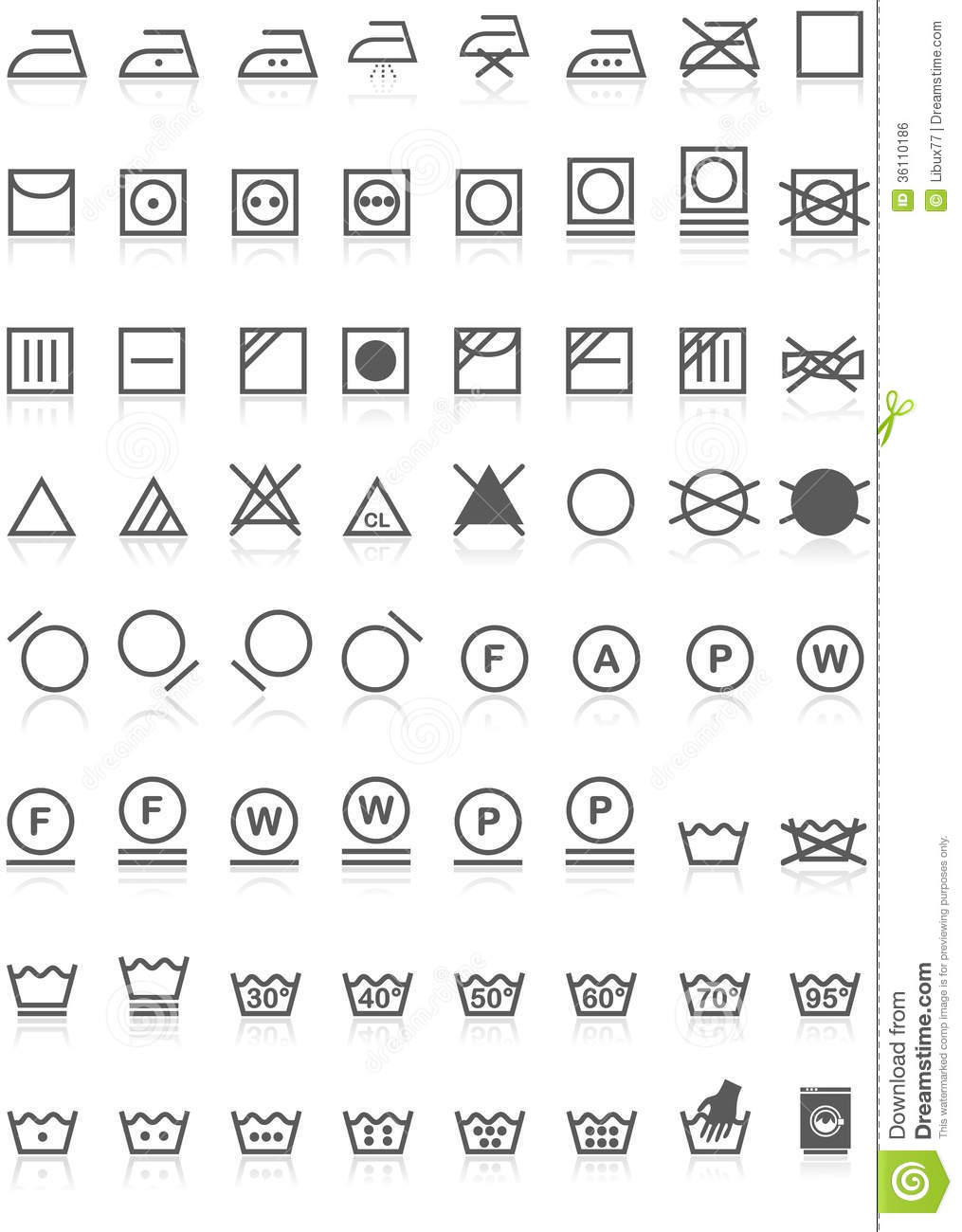 Laundry icons collection black on white stock vector illustration laundry icons collection black on white biocorpaavc Image collections