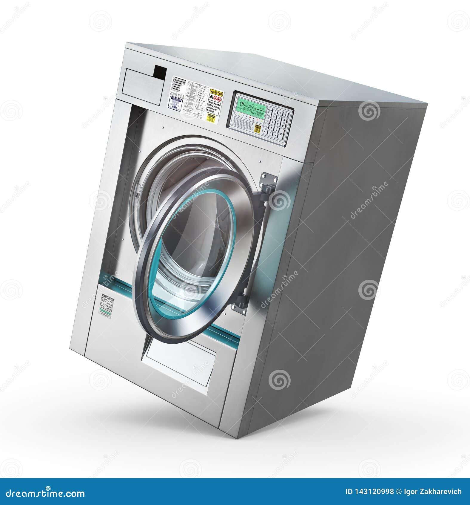 Laundry  Industrial Washing Machine Stock Illustration