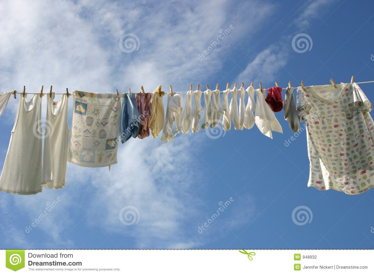 Laundry Line Stock Photo Image Of Domestic Blouse