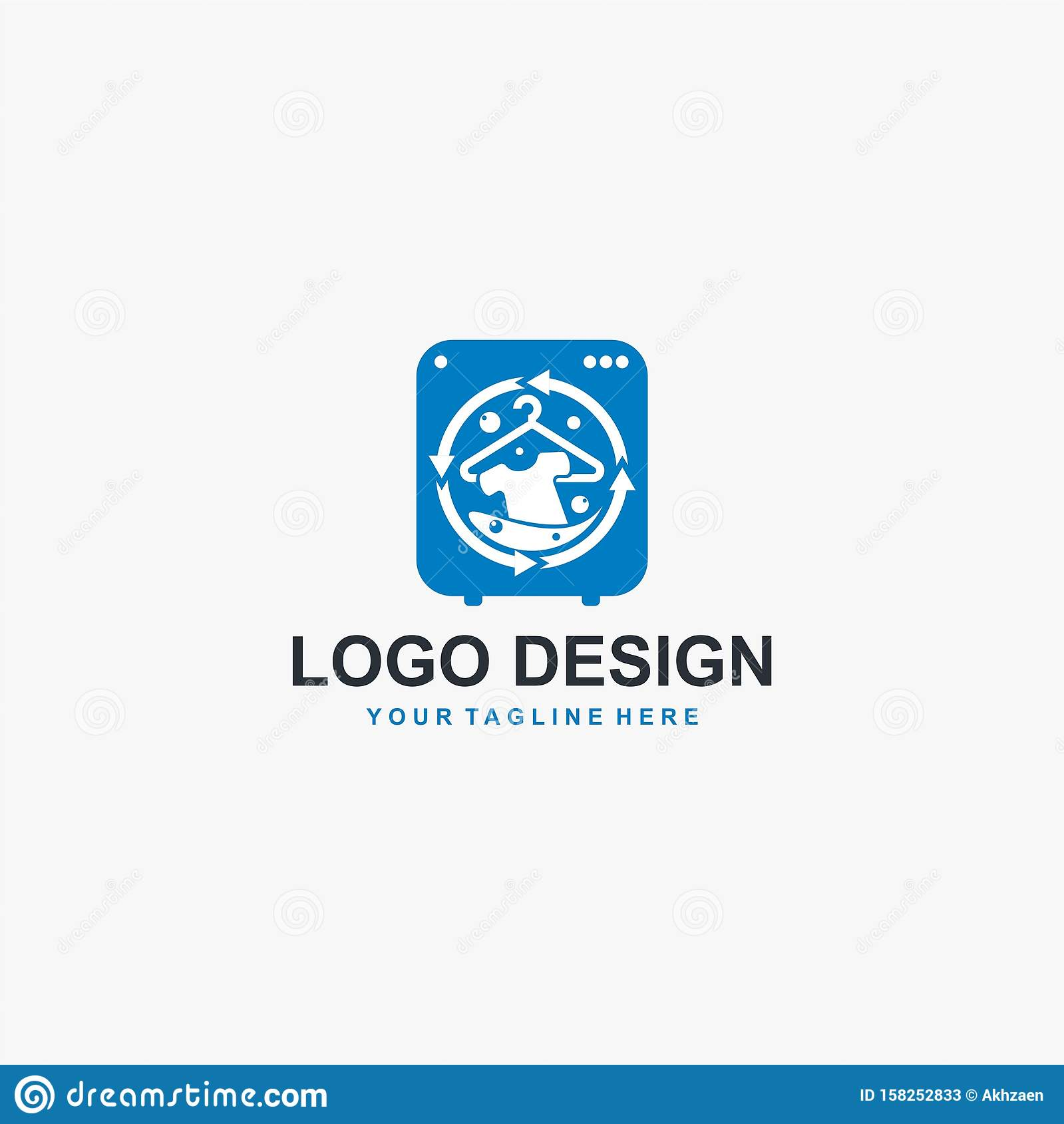 laundry logo design icon vector machine laundry concept illustration bubble icon design business logo design element stock vector illustration of nature isolated 158252833 dreamstime com