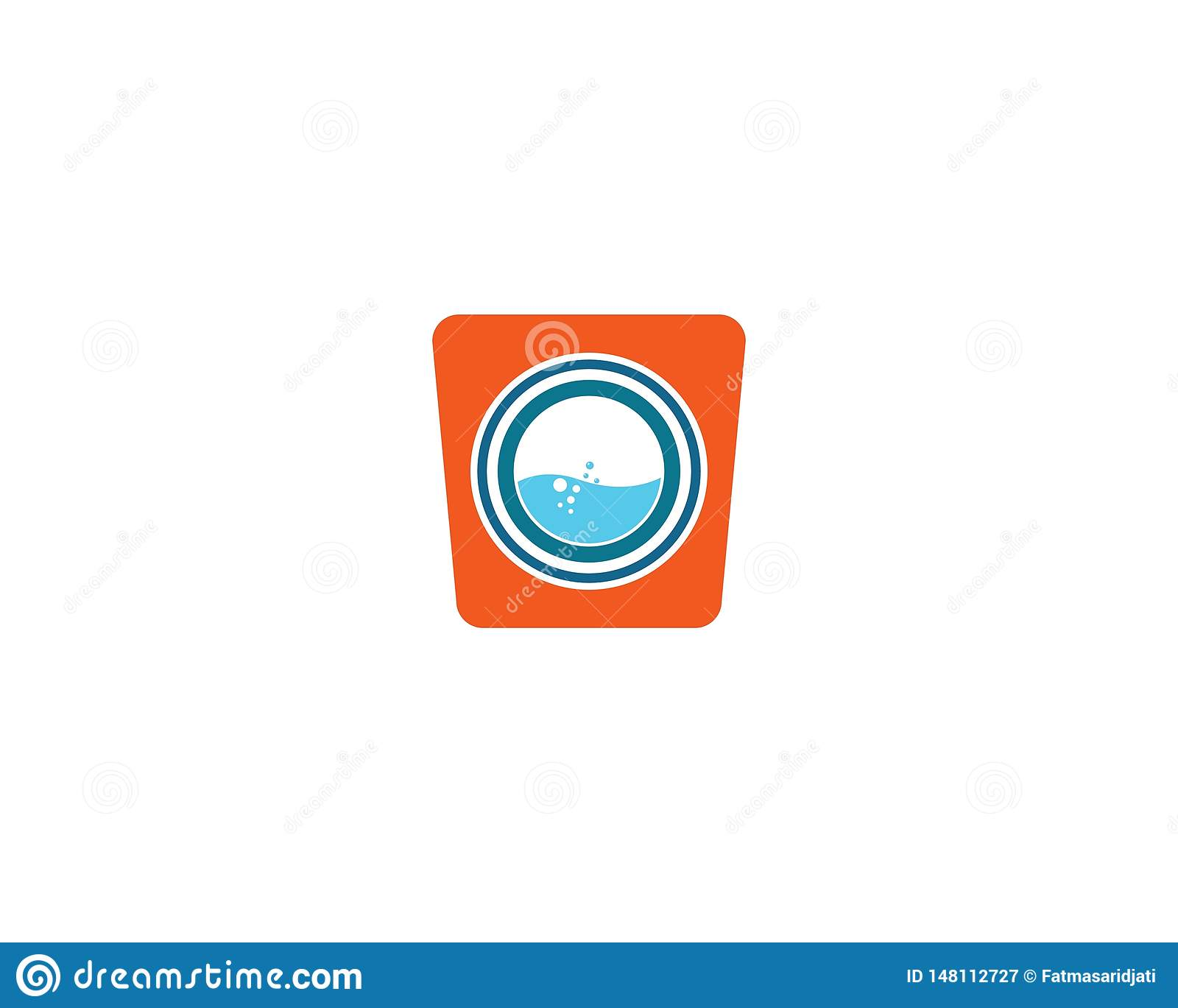 Laundry logo vector icon