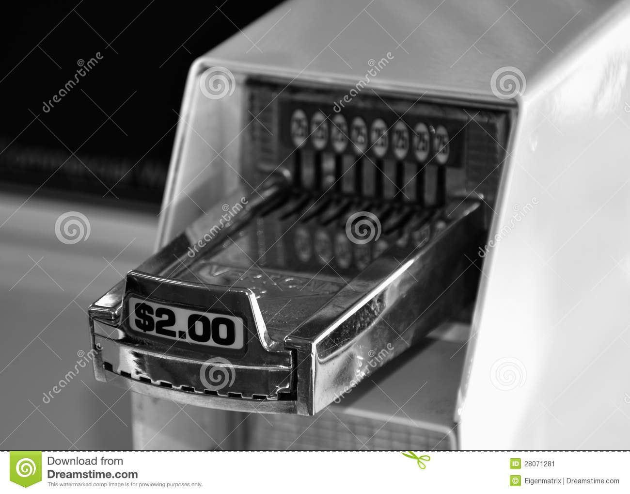Coin Washing Machine >> Laundry Machine Coin Receiver Stock Image - Image: 28071281