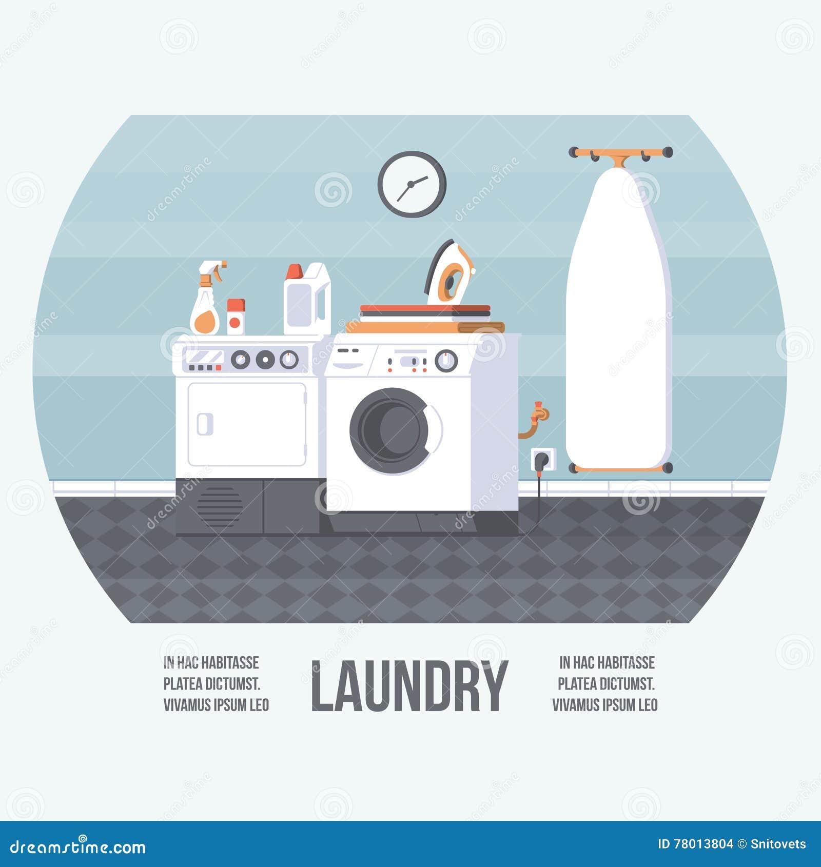 Laundry Elements Set Washer And Dryer Detergents Basket
