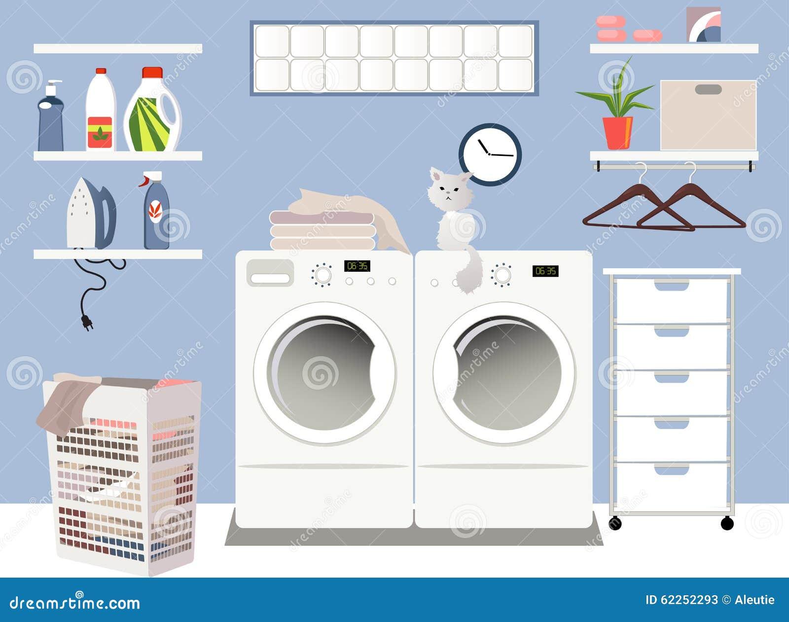 Laundry Room Cartoon Vector Cartoondealer Com 62252293