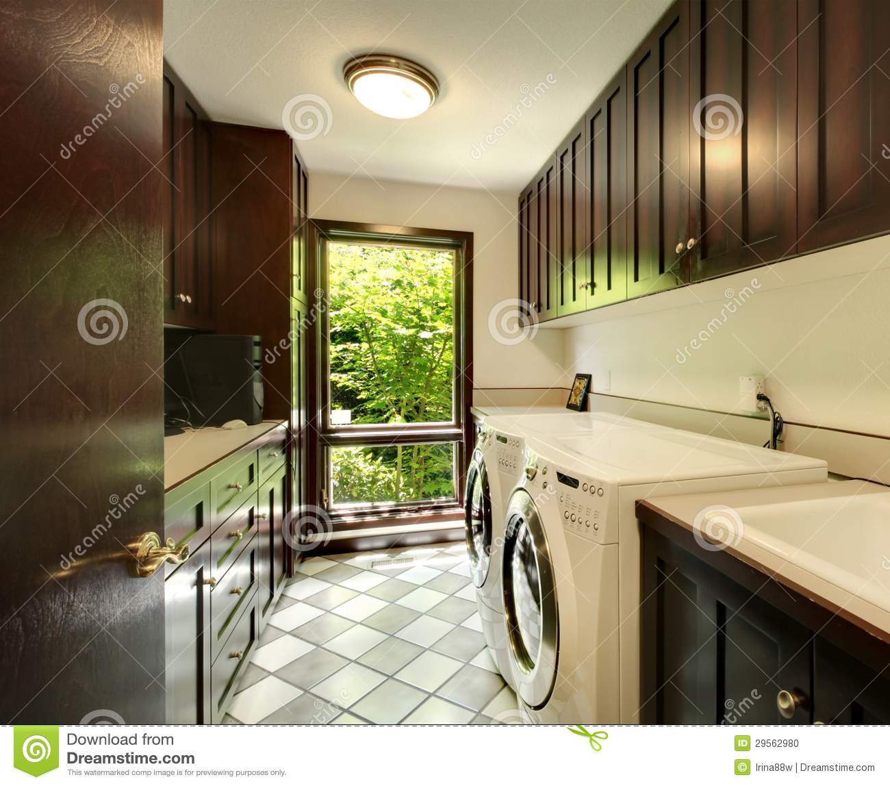Spacious home laundry utility room royalty free stock photo ...
