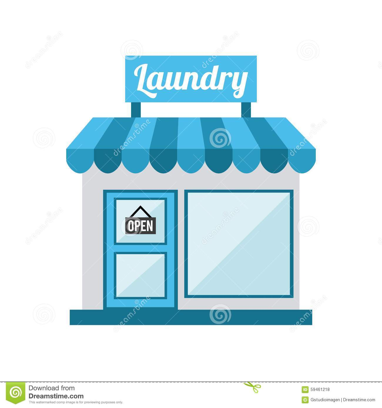 Laundry Service Stock Vector Image 59461218
