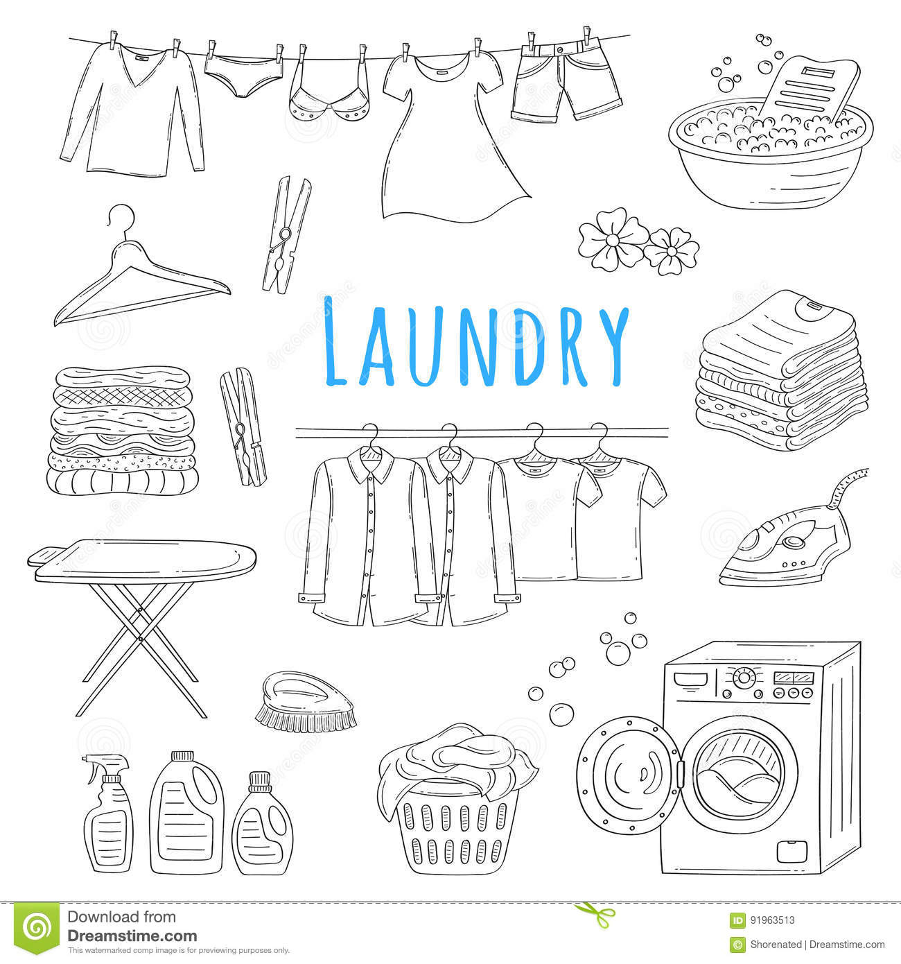 Laundry service hand drawn doodle icons set vector illustration laundry service hand drawn doodle icons set vector illustration biocorpaavc Image collections