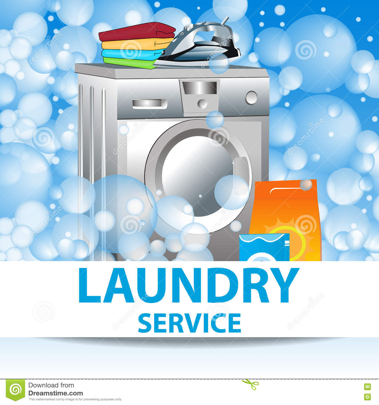 Laundry service poster template for house cleaning for Ironing service flyer template