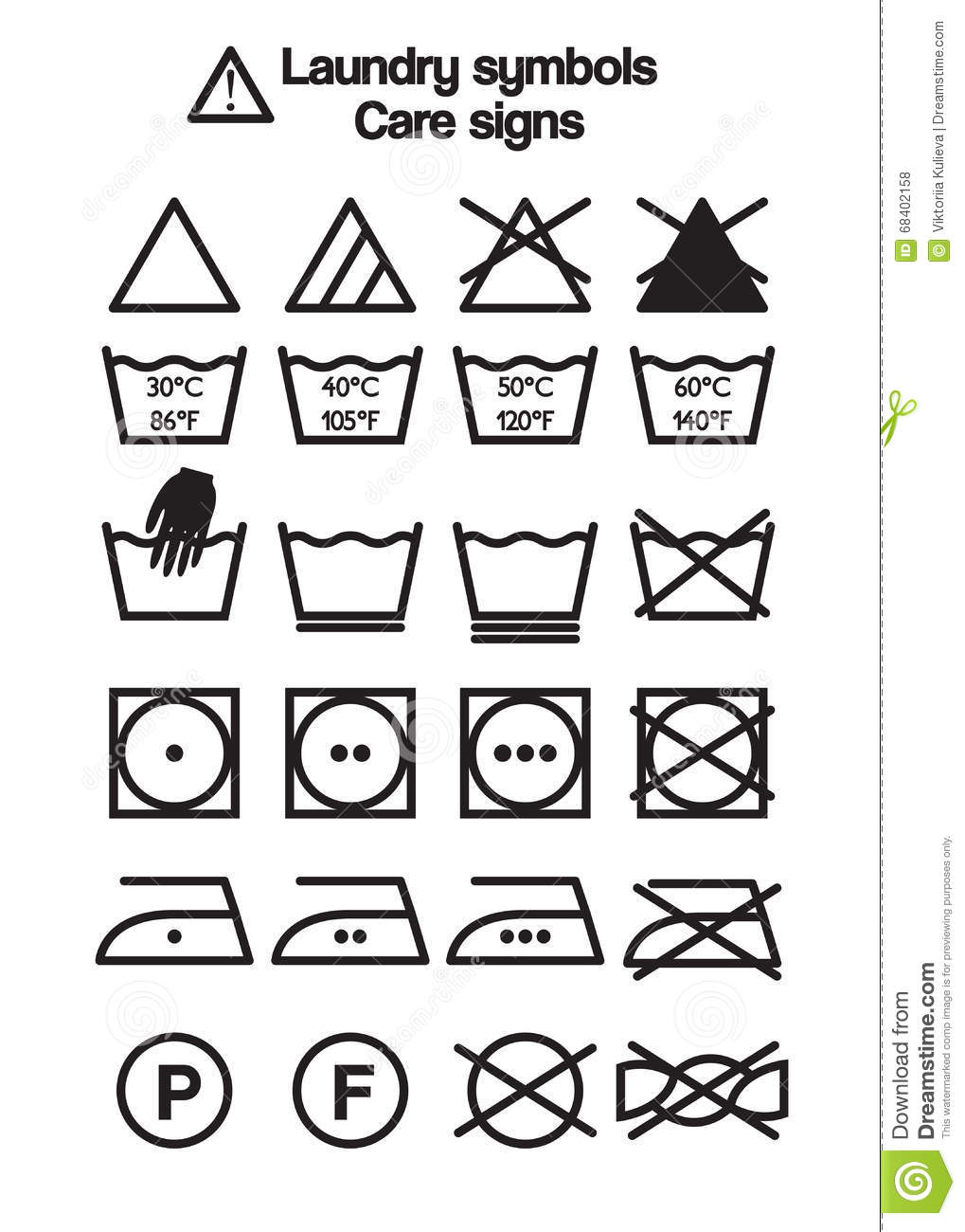 Laundry symbols care signs stock vector illustration of laundry symbols care signs biocorpaavc Choice Image