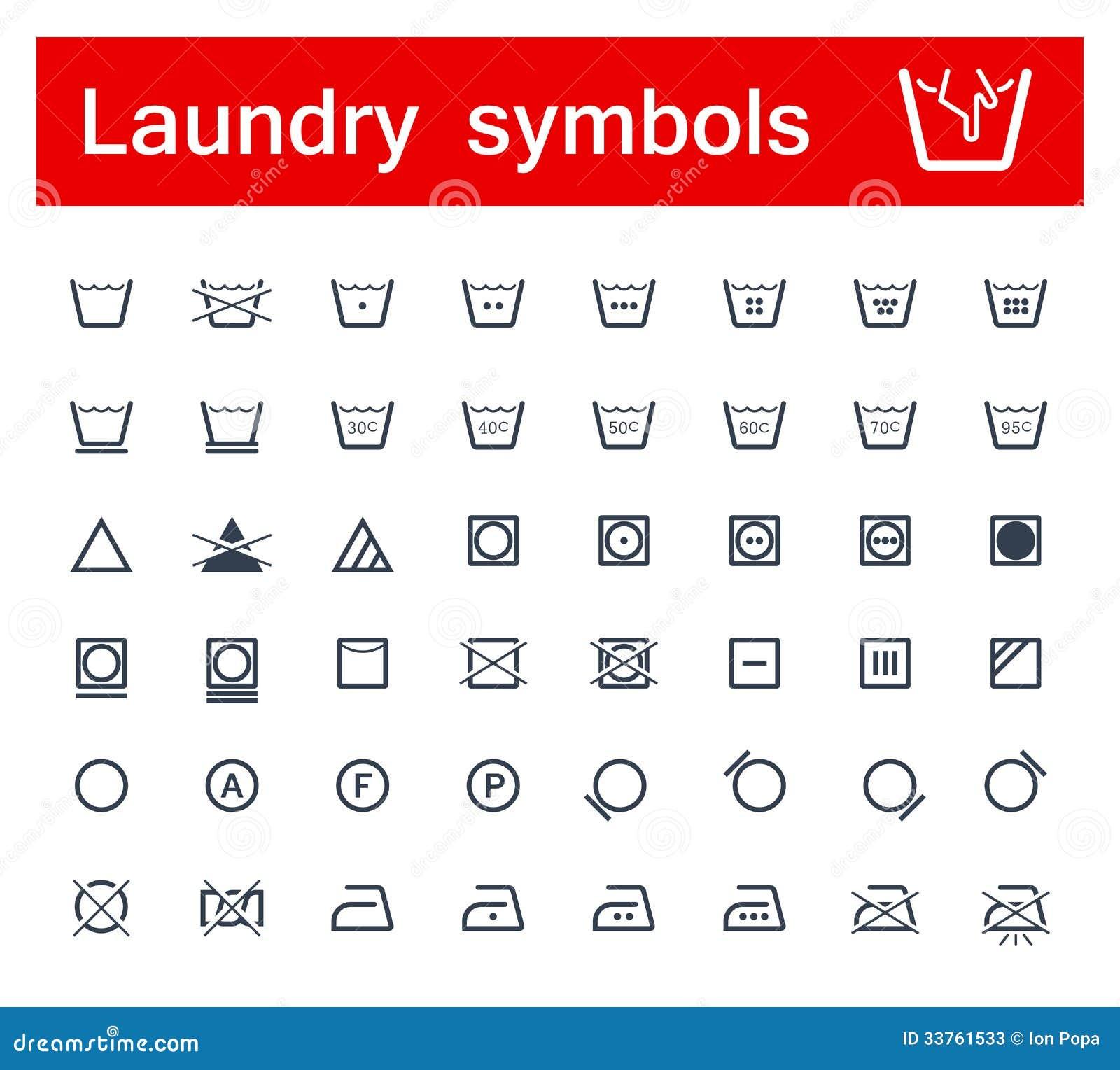 Laundry Symbols Stock Vector Illustration Of Clothing 33761533